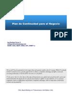 Planes de Continuidad Negocio v 3.0