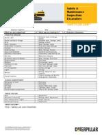 Checklist Excavators