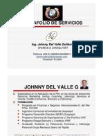 Portafolio de Servicios-Ingeniero Johnny Del Valle Gutierrez