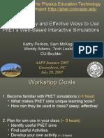 Phet Workshop AAPT Summer2007
