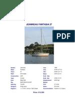 82366718 Jeanneau Fantasia 27