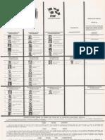 Papeleta Estatal - Elecciones 1992