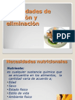 7440627 Necesidades de Eliminacion y Nutricion