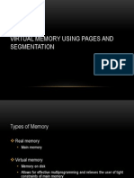 Virtual Memory Using Pages and Segmentation