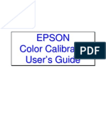 Epson Color Calibrator User's Guide