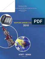 Rapport Annuel 2010 Atrpt Benin