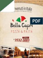 Cardapio Entrega Rio Claro - Bella Capri