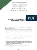 Weber y el debate por el método de las ciencias del espíritu (apuntes de cátedra) – Osvaldo Blanco