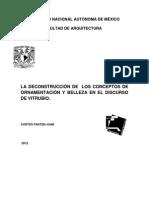 La Deconstruccion de Los Conceptos de Ornamentacion y Belleza .. Vitrubio