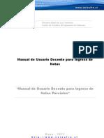 Manual de Usuario Docente - Ingreso Notas