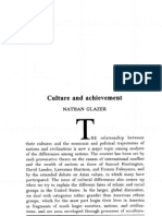 Culture and Achievement by Nathan Glazer