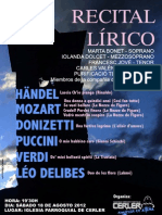 Recital Lírico en Cerler