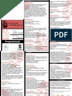 Programação 8ª Jornada de Nutrição da UNITAU - 2012