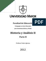 Historia y Analisis II (Parte II) - Pedro Iglesias