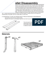 Disassembly of Pallets