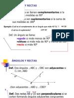 Angulos y rectas