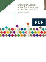 Encuesta Nacional  sobre Discriminación en México. ENADIS 2010.  Resultados Generales