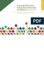 Encuesta Nacional  sobre Discriminación en México. ENADIS 2010. Resultados sobre las y los jóvenes