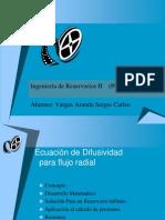 Ecuacion de Difusividad Para Flujo Radial
