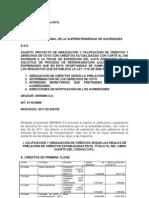 Modelo de Proyecto de calificación y graduación de créditos y derechos de voto ley 1116