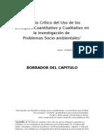 Análisis Crítico del Uso de los Enfoques Cuantitativo y Cualitativo en la Investigación de  Problemas Socio-ambientales