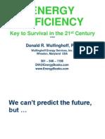 Energy Efficiency Key to Survival