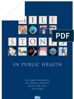 Milestones in Public Health
