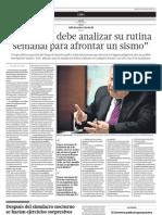 14.08.2012 Kuroiwa 'Cada Uno Debe Analizar Su Rutina Semanal Para Afrontar Un Sismo'