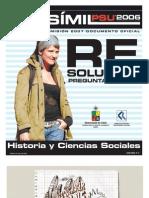 Solucion Ensayo Oficial Historia Demre 2006 Parte I