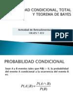 Probabilidad Condicional, Total y Teorema de Bayes