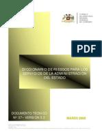 Diccionario de Riesgos - Chile