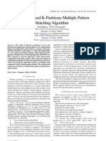 An Index Based K-Partitions Multiple Pattern Matching Algorithm