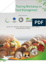 2 Days Training Workshop on Halal Food ManagementPearl Continental Hotel, Lahore, 2012