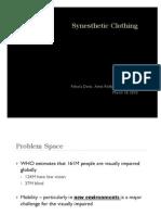 Synesthetic Clothing Presentation