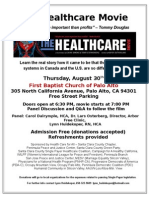 Healthcare Movie Flyer 08-30-12 Palo Alto