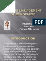Nursing Management of Menopause