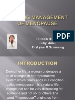 Nursing Management of Menopause