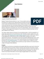 Egypt's Evolving Civil-Military Relations _ Stratfor
