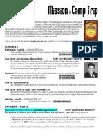 06 07 - Northland Camp Trip Info Sheet