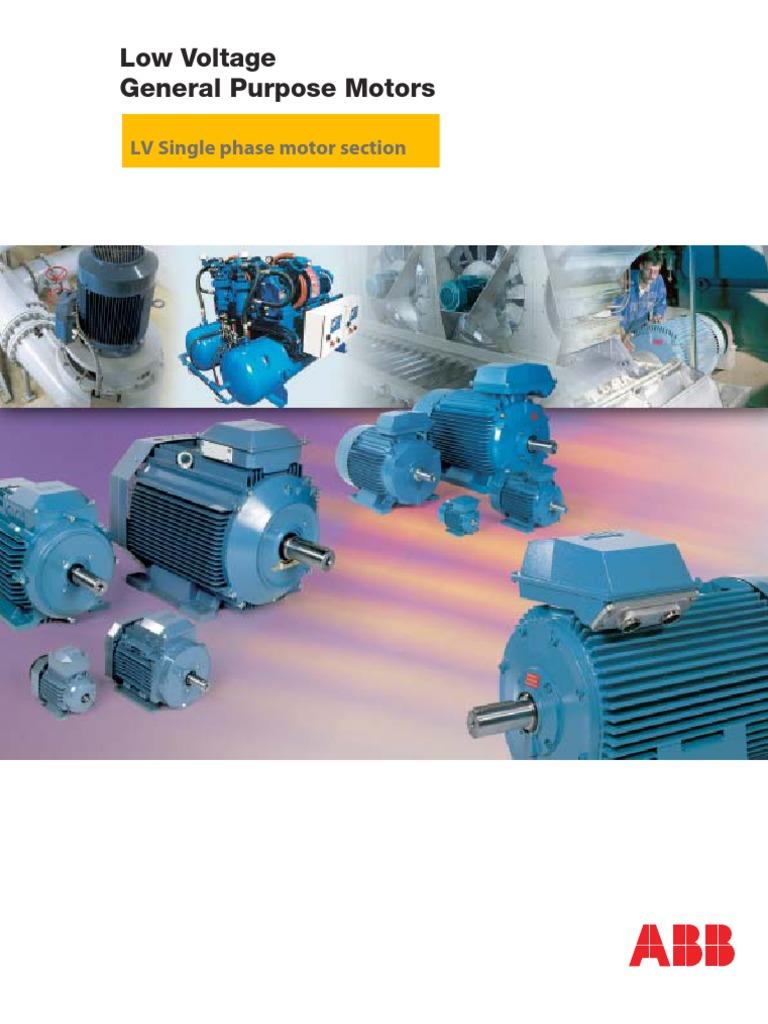 ABB Single Phase Motors | Bearing (Mechanical) | Capacitor