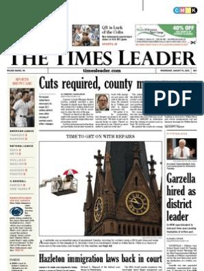 Times Leader 08 15 2012 Bathroom Lawsuit