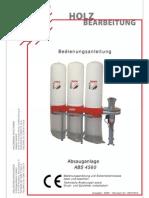 HOLZMANN Bedienungsanleitung ABS4560 Deutsch