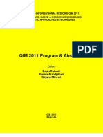 QIM 2011 Abstracts E-Book