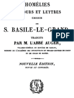 Homelies, Discours Et Lettres Choisis de Saint Basile-Le-Grand