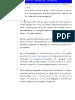 Prevention of Deafness Stg for Deafness