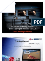 Lg 50pg20 Plasma Training Manual 1 - 2009