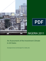 Nigeria 2011 an Assessment of the Investment Climate in 26 States