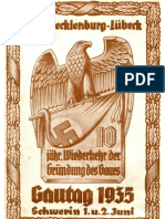Gau Mecklenburg-Luebeck - Gautag 1935 - Schwerin 1. Und 2. Juni - Festschrift (84 S., Scan, Fraktur)