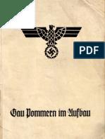Gauleitung Pommern Der NSDAP - Gau Pommern Im Aufbau (1935, 151 S., Scan, Fraktur)