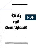 Gaupropaganda Der NSDAP Berlin - Dich Ruft Deutschland (1933, 12 S., Scan, Fraktur)